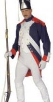 Déguisement d'époque de soldat français