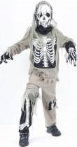 Déguisement squelette zombie garçon