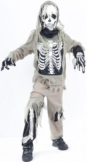 Déguisement squelette zombie enfant