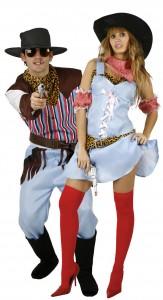 déguisement couple cowboy et cowgirl
