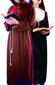 déguisement couple moine et religieuse