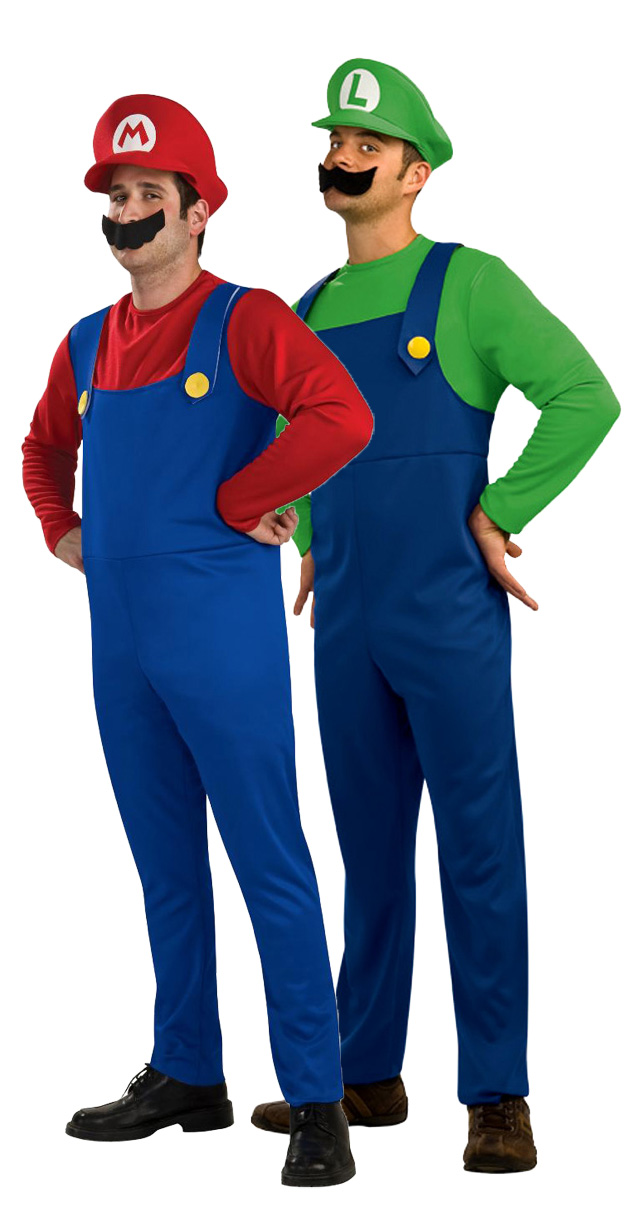 d guisement couple mario bross et luigi costume pour couple d guisement soir e costum e. Black Bedroom Furniture Sets. Home Design Ideas