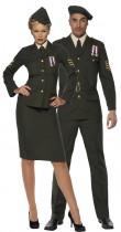 Déguisement couple d'officiers militaires
