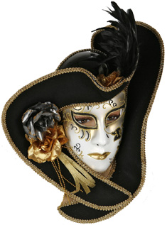 Masque v nitien avec chapeau costume carnaval de venise - Masque venitien decoration ...