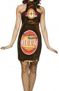 déguisement bouteille de bière femme