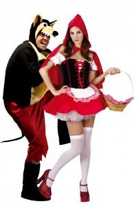 déguisement couple chaperon rouge et grand méchant loup