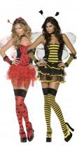 Déguisement couple coccinelle et abeille