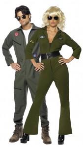déguisement couple d'aviateurs top gun