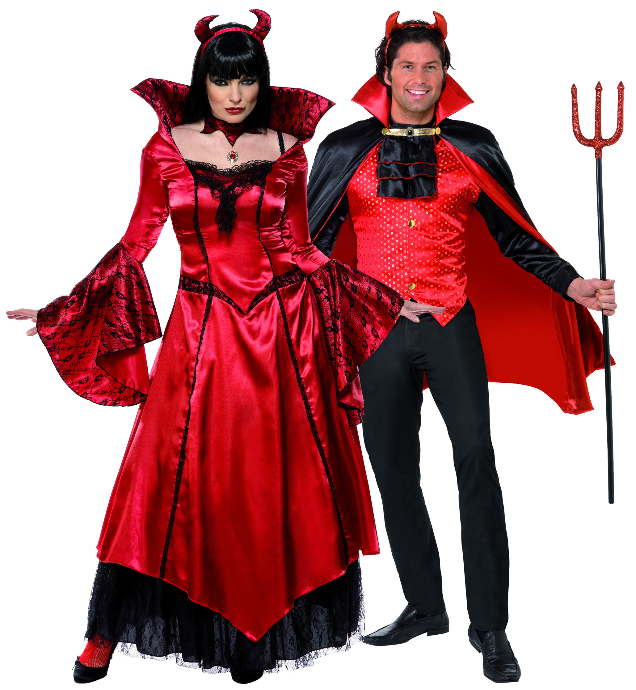D guisement couple diable costume couple pas cher d guisement halloween - Deguisement couple halloween ...