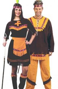 déguisement couple d'indiens