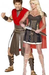 déguisement couple gladiateurs romains