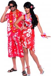 déguisement couple hawaiens