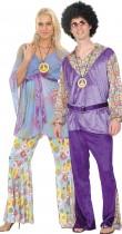 Déguisement couple de hippie de luxe
