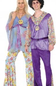 déguisement couple hippie de luxe