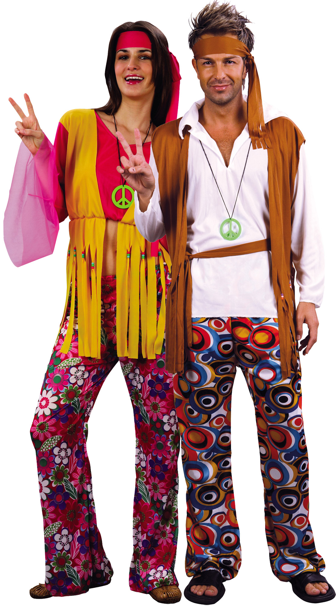 d guisement couple hippie d guisement couple baba cool costume carnaval pas cher. Black Bedroom Furniture Sets. Home Design Ideas