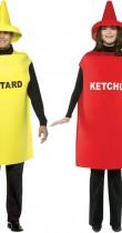 Déguisement couple moutarde et ketchup