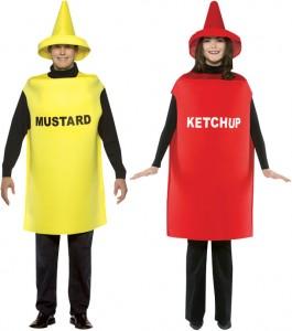 déguisement couple ketchup et moutarde