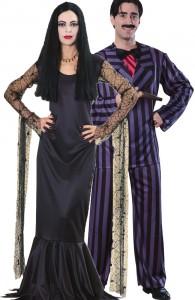 déguisement couple morticia et gomez famille addams