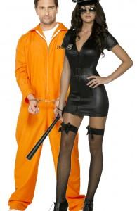 déguisement couple policière et prisonnier