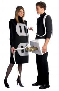 déguisement couple prise de courant et interrupteur