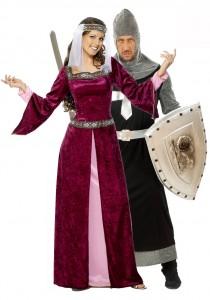 déguisement couple reine et chevalier médiéval