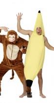 Déguisement couple singe et banane
