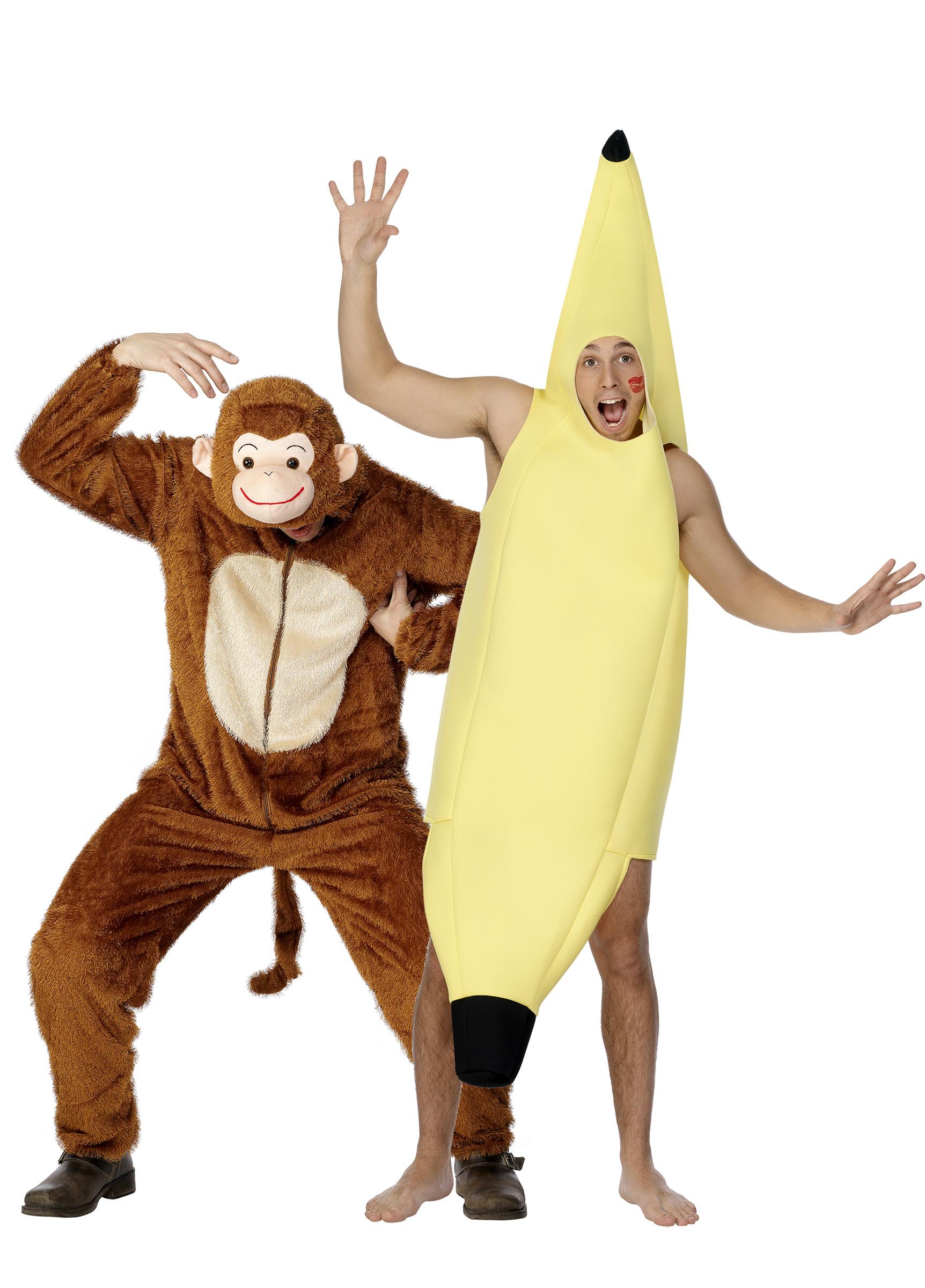 d guisement couple singe et banane d guisement humoristique adulte carnaval pas cher. Black Bedroom Furniture Sets. Home Design Ideas