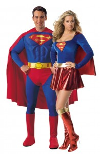 déguisement couple superman et supergirl