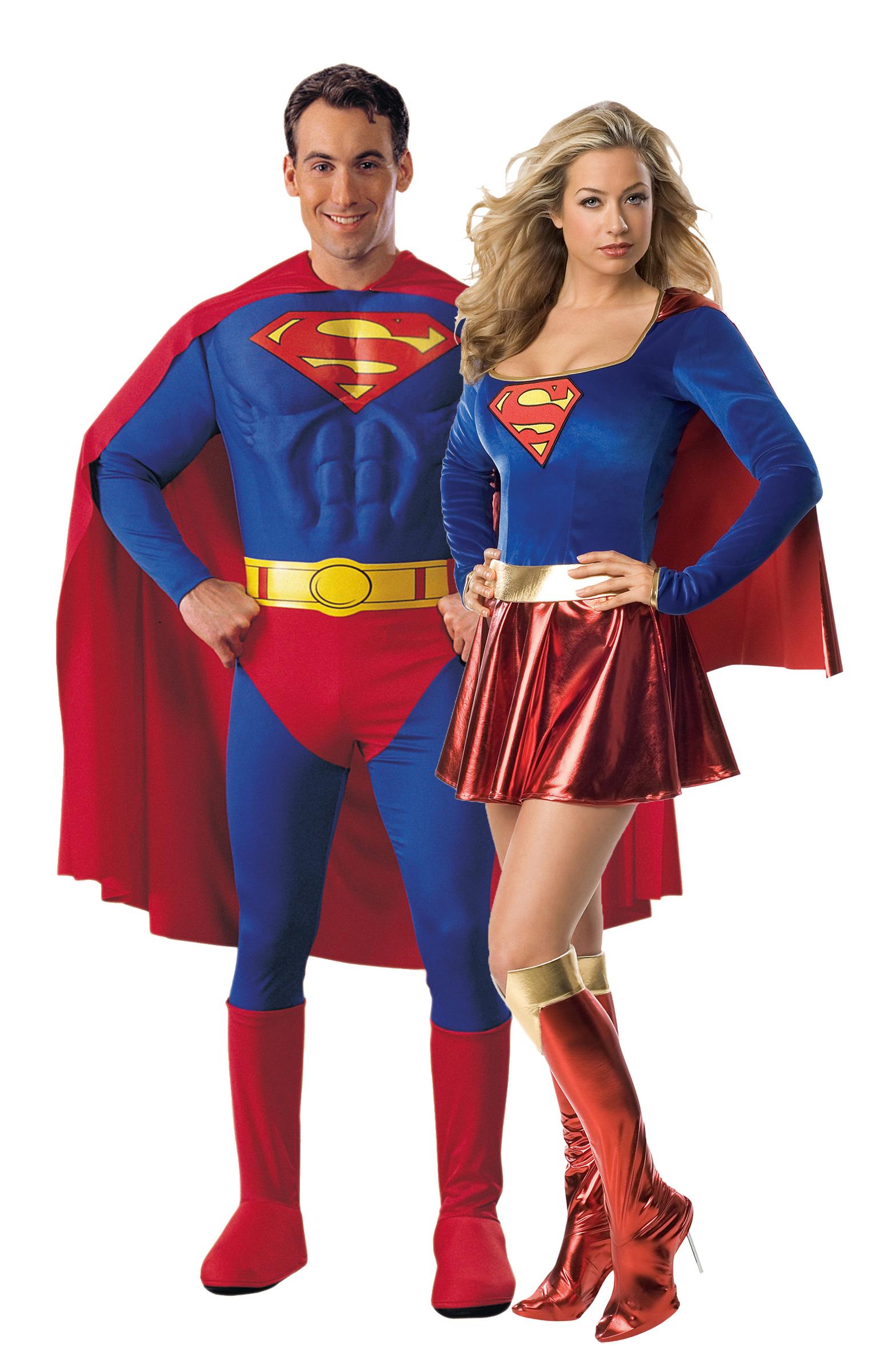 d guisement couple superman et supergirl d guisement couple pas cher costume carnaval. Black Bedroom Furniture Sets. Home Design Ideas