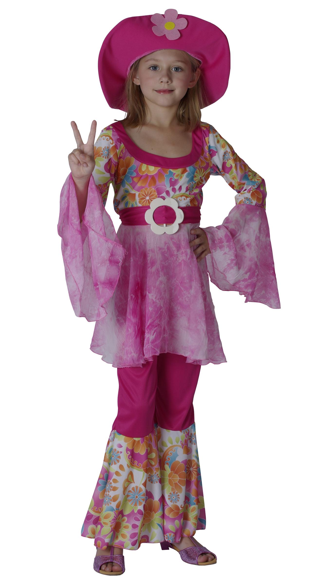 d guisement hippie fille d guisement baba cool enfant costume carnaval. Black Bedroom Furniture Sets. Home Design Ideas