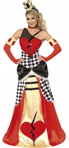 déguisement reine de coeur femme