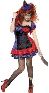 déguisement clown terrifiant femme