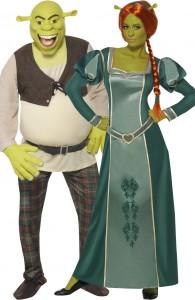 déguisement couple Shrek et Fiona