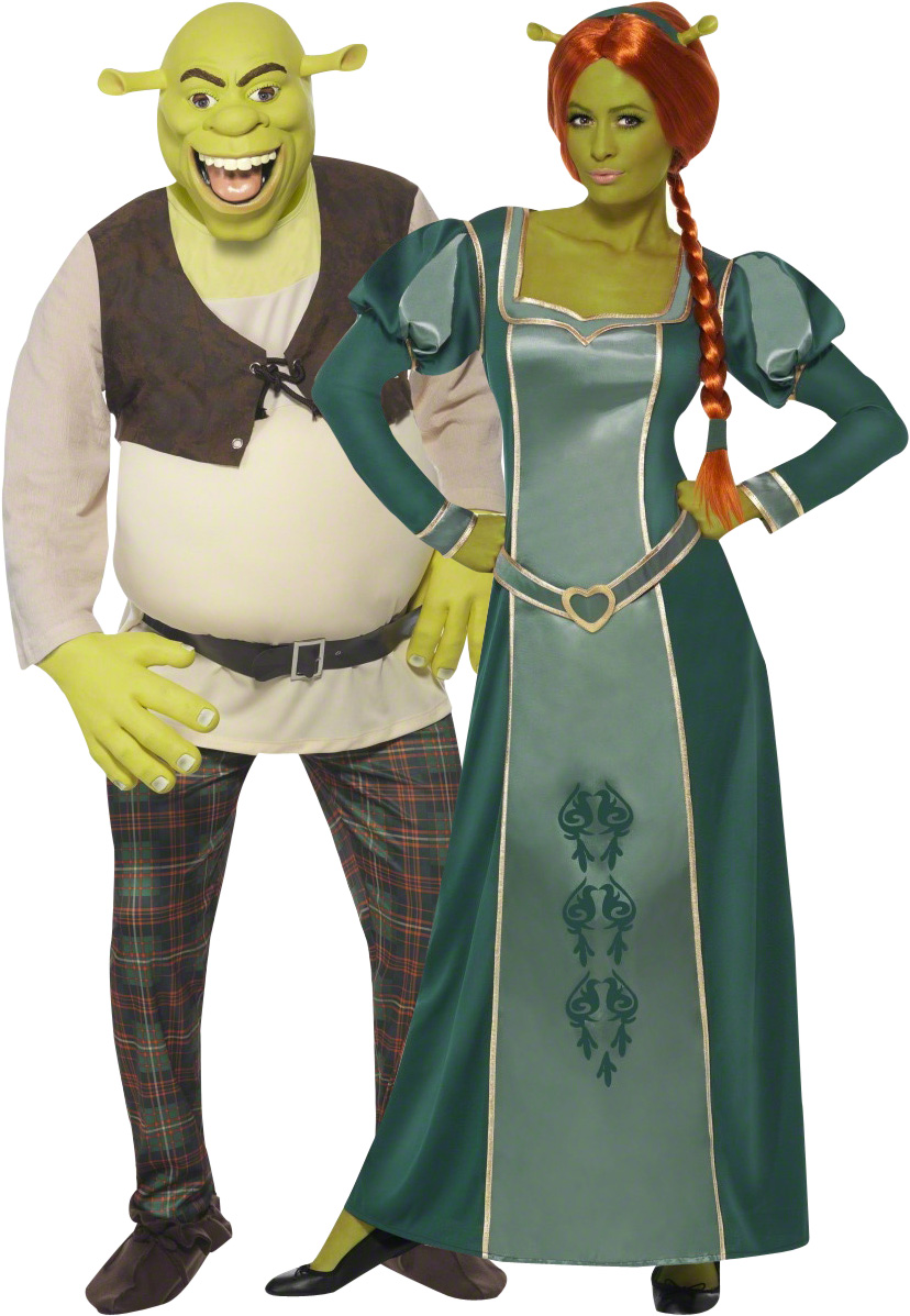 D guisement couple shrek et fiona d guisement licence officielle costume carnaval - Deguisement couple halloween ...