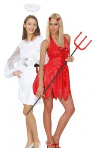 déguisement couple ange et démon