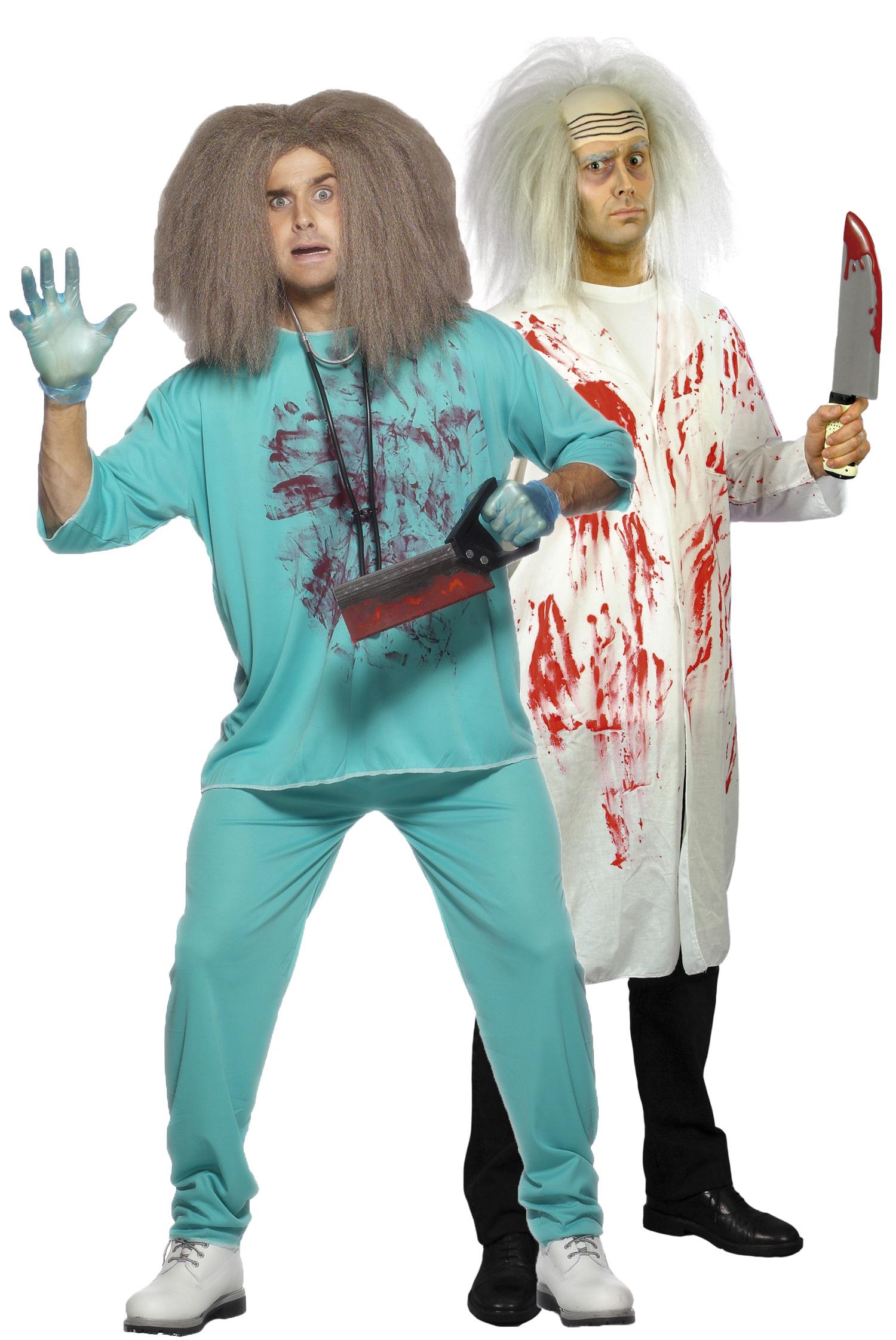 d guisement couple docteurs fous costume couple pas cher d guisement halloween. Black Bedroom Furniture Sets. Home Design Ideas