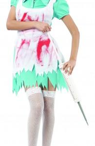 d guisement infirmi re psychopathe costume zombie femme pas cher soir e halloween. Black Bedroom Furniture Sets. Home Design Ideas