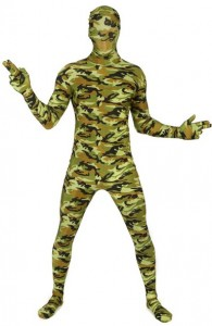 déguisement morphsuits militaire