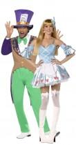 Déguisement couple Alice au pays des merveilles et le chapelier fou