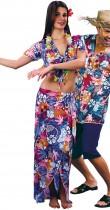 Déguisement couple touristes hawaïens