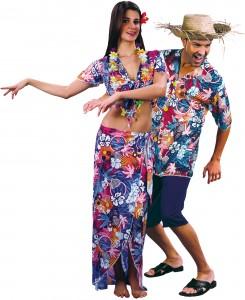 déguisement couple touristes hawaiens