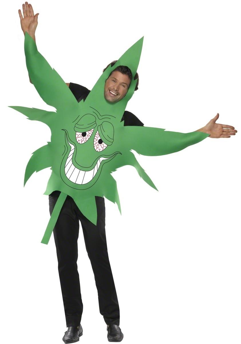 D guisement feuille de cannabis d guisement humoristique pas cher enterrement de vie de gar on - Deguisement homme original ...