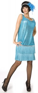 déguisement charleston bleu