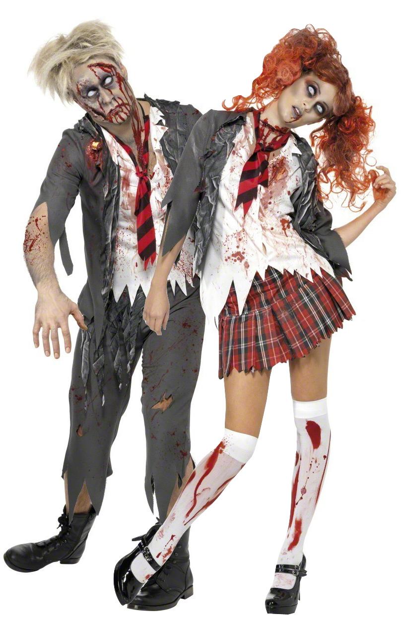 d guisement couple d 39 coliers zombies costume mort vivant pas cher soir e halloween. Black Bedroom Furniture Sets. Home Design Ideas