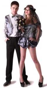 déguisement couple mariés gothiques