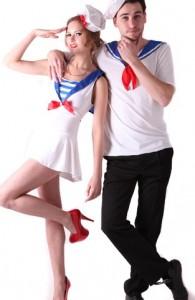déguisement couple marins