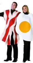 Déguisement couple oeuf au bacon
