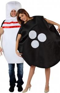 déguisement couple quille et boule de bowling
