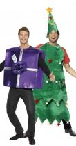Déguisement couple sapin et cadeau de Noël
