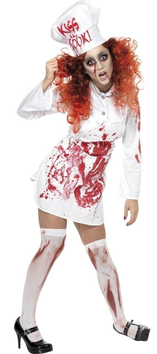 d guisement cuisini re zombie costume mort vivant femme halloween pas cher. Black Bedroom Furniture Sets. Home Design Ideas